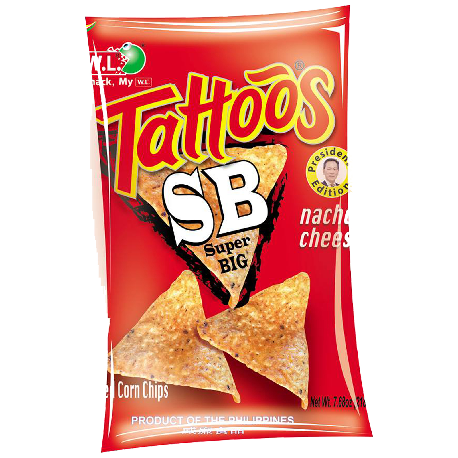Tattoos SB Corn Chips Nacho Cheese 218g