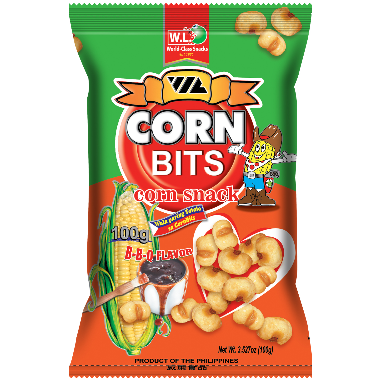 Corn Bits Corn Snacks BBQ 100g