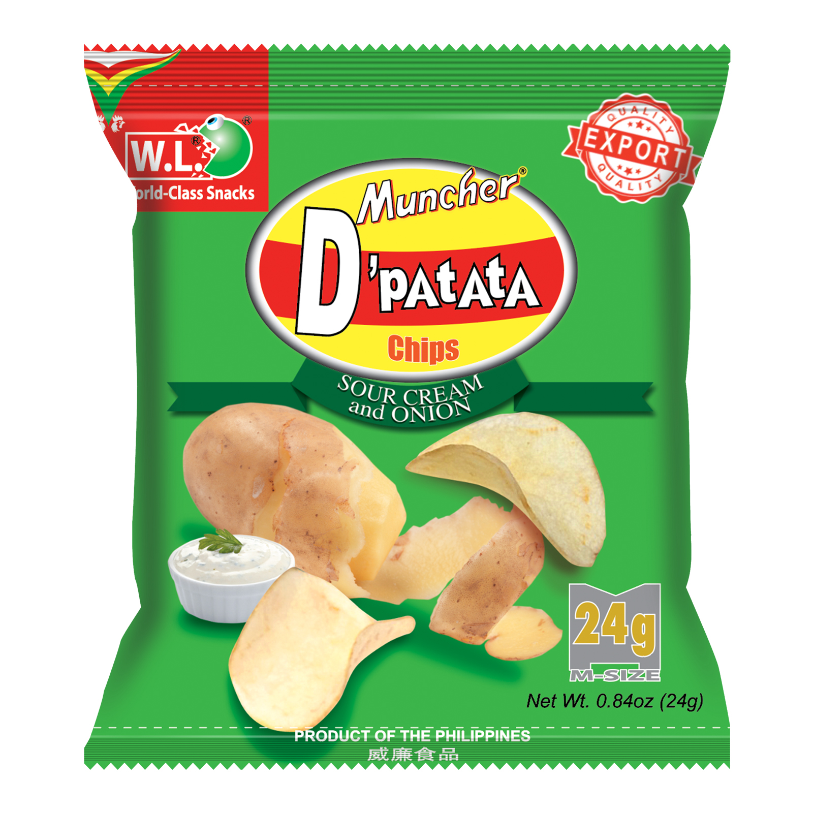 D'Patata Chips Sour and Cream Flavor