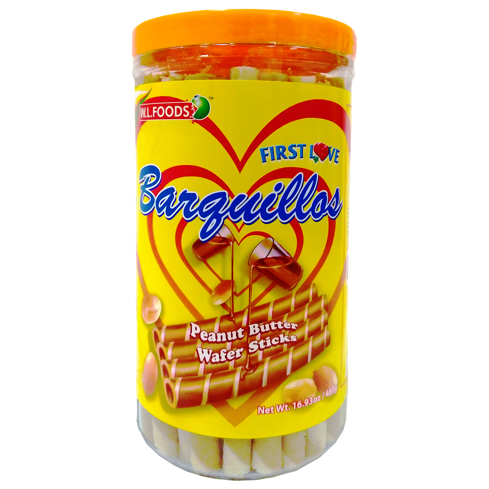 First Love Barquillos Peanut Butter Wafer Stick