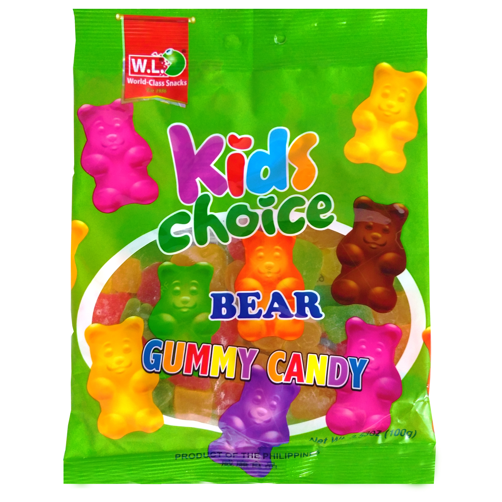 Kids Choice Bear Gummy Candy 100g