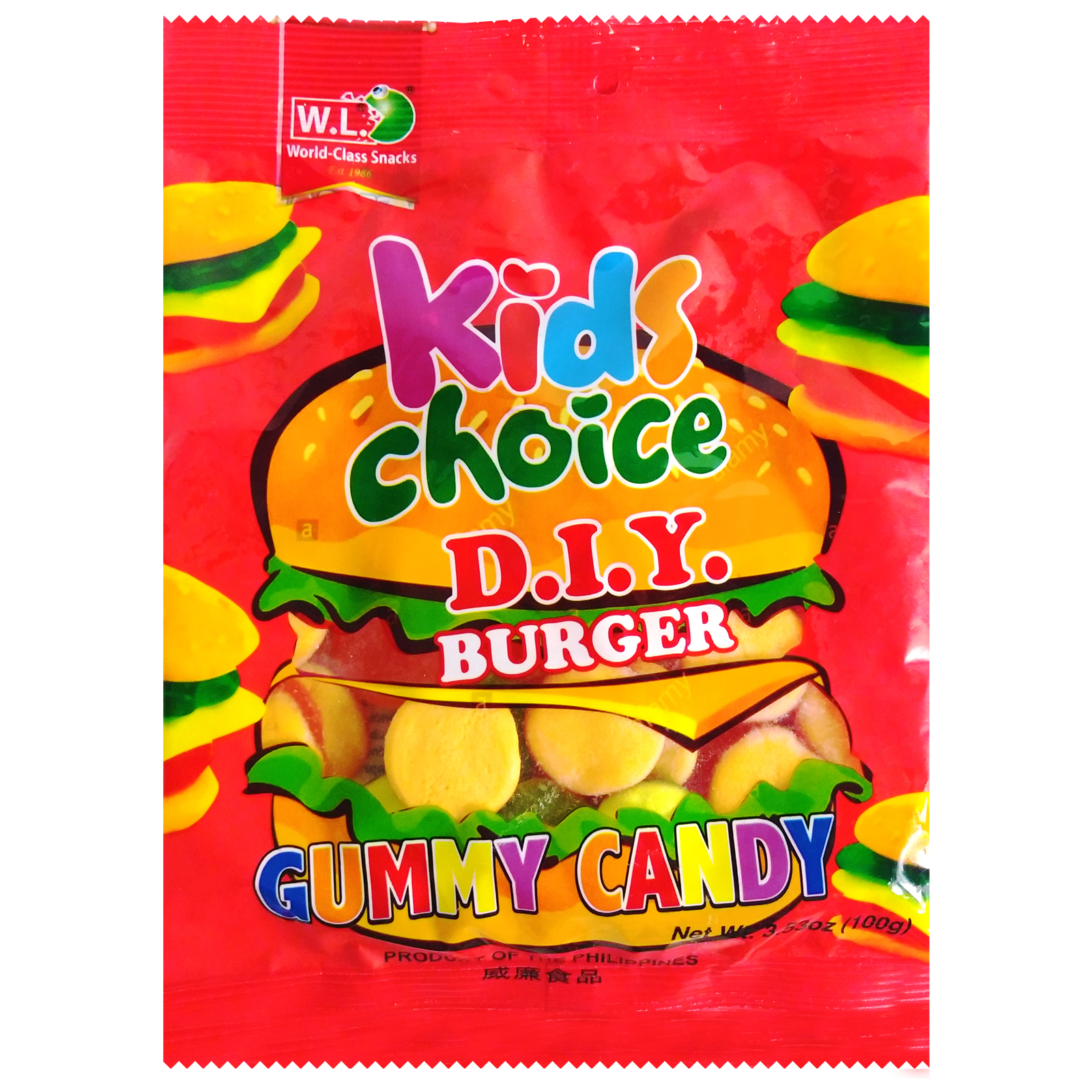 Kids Choice D.I.Y Burger Gummy Candy 100g