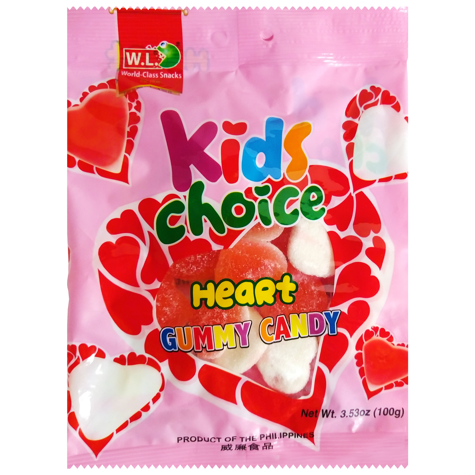 Kids Choice Heart Gummy Candy 100g