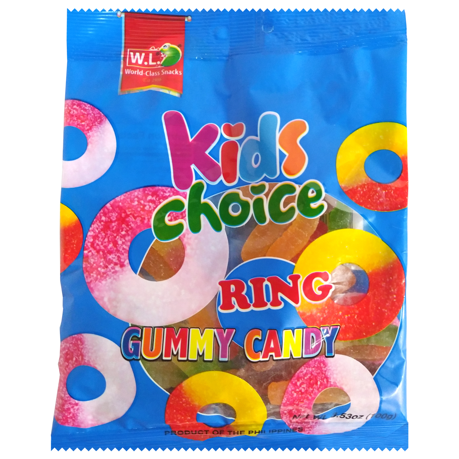 Kids Choice Ring Gummy Candy 100g
