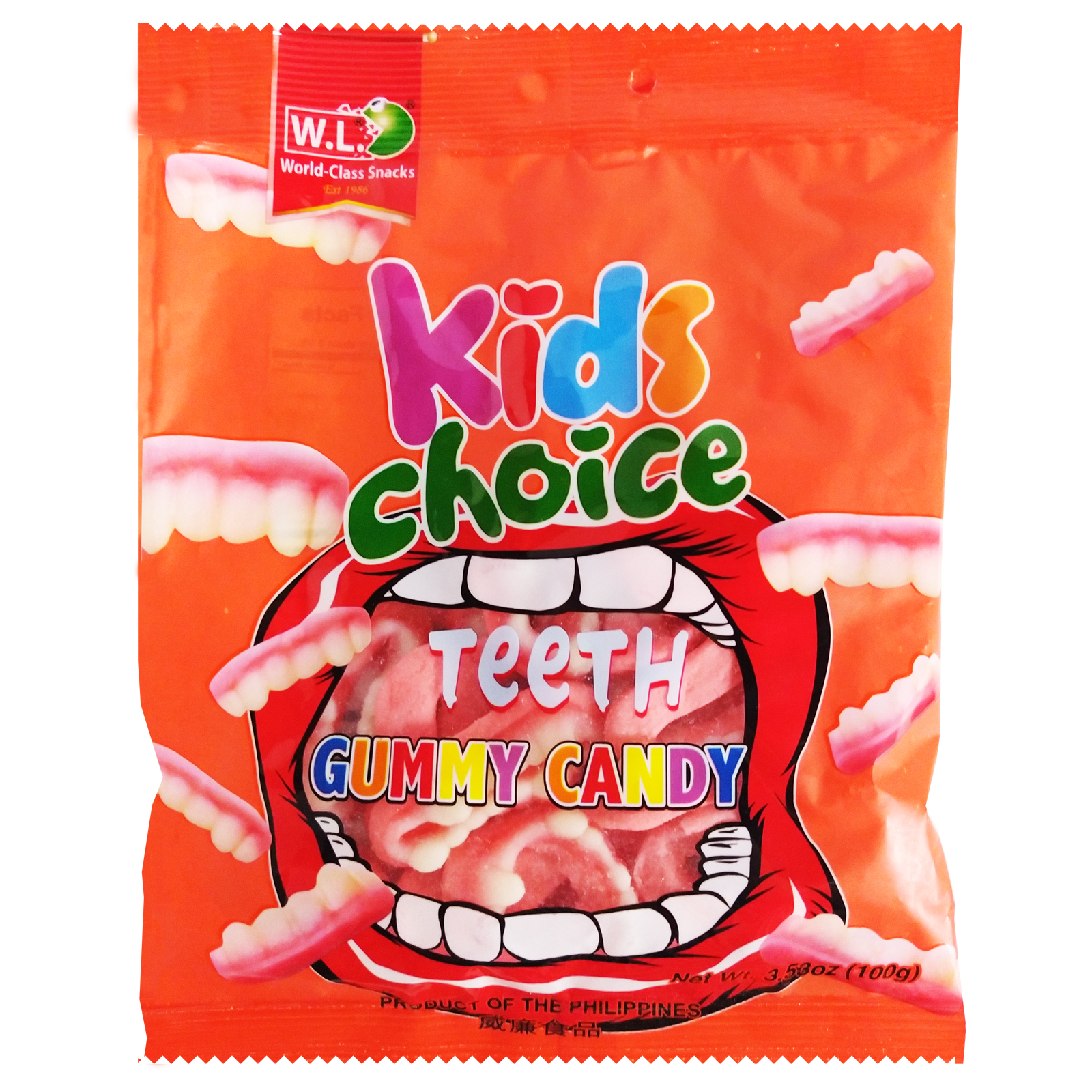 Kids Choice Teeth Gummy Candy 100g