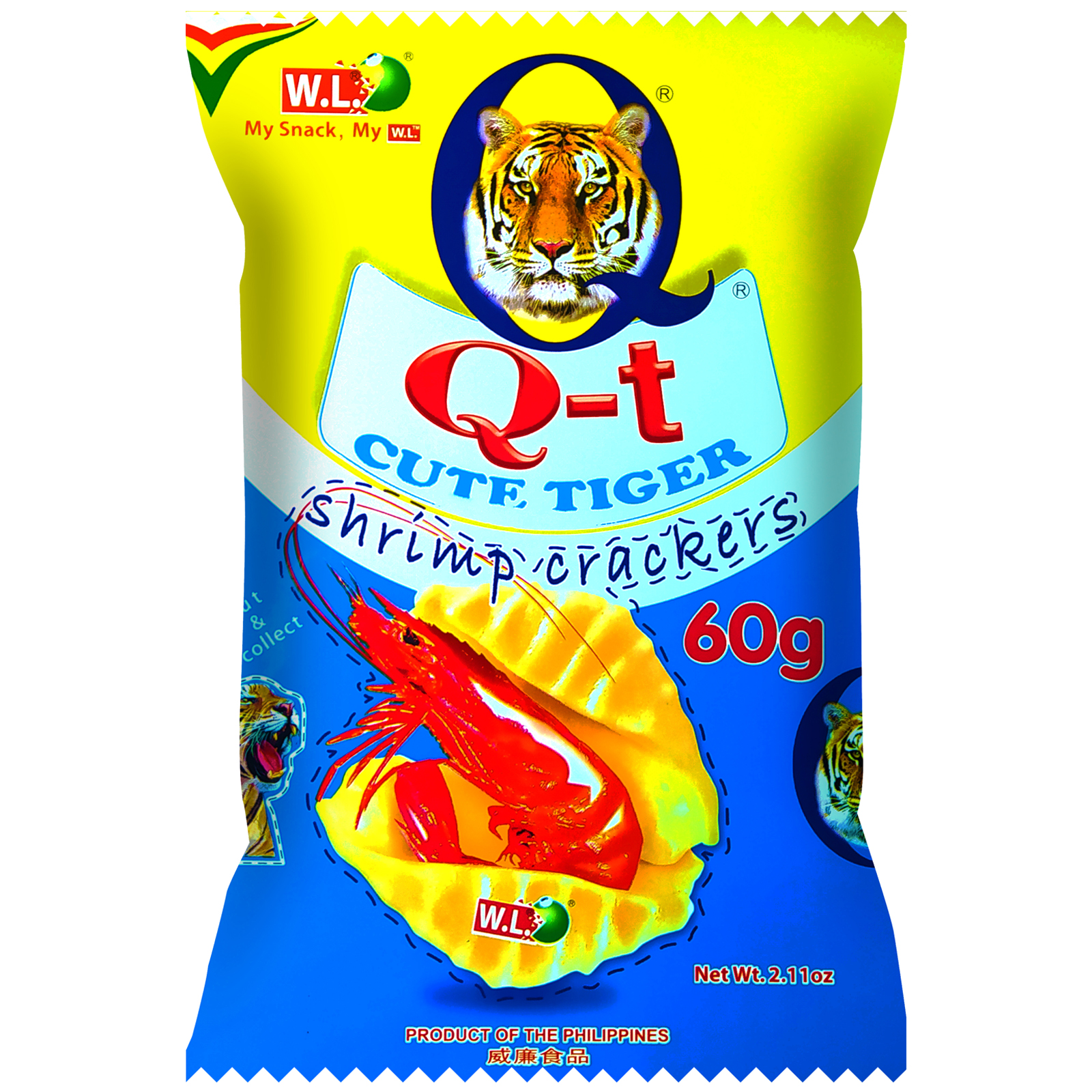 Q-T Cute Tiger Shrimp Crackers 60g