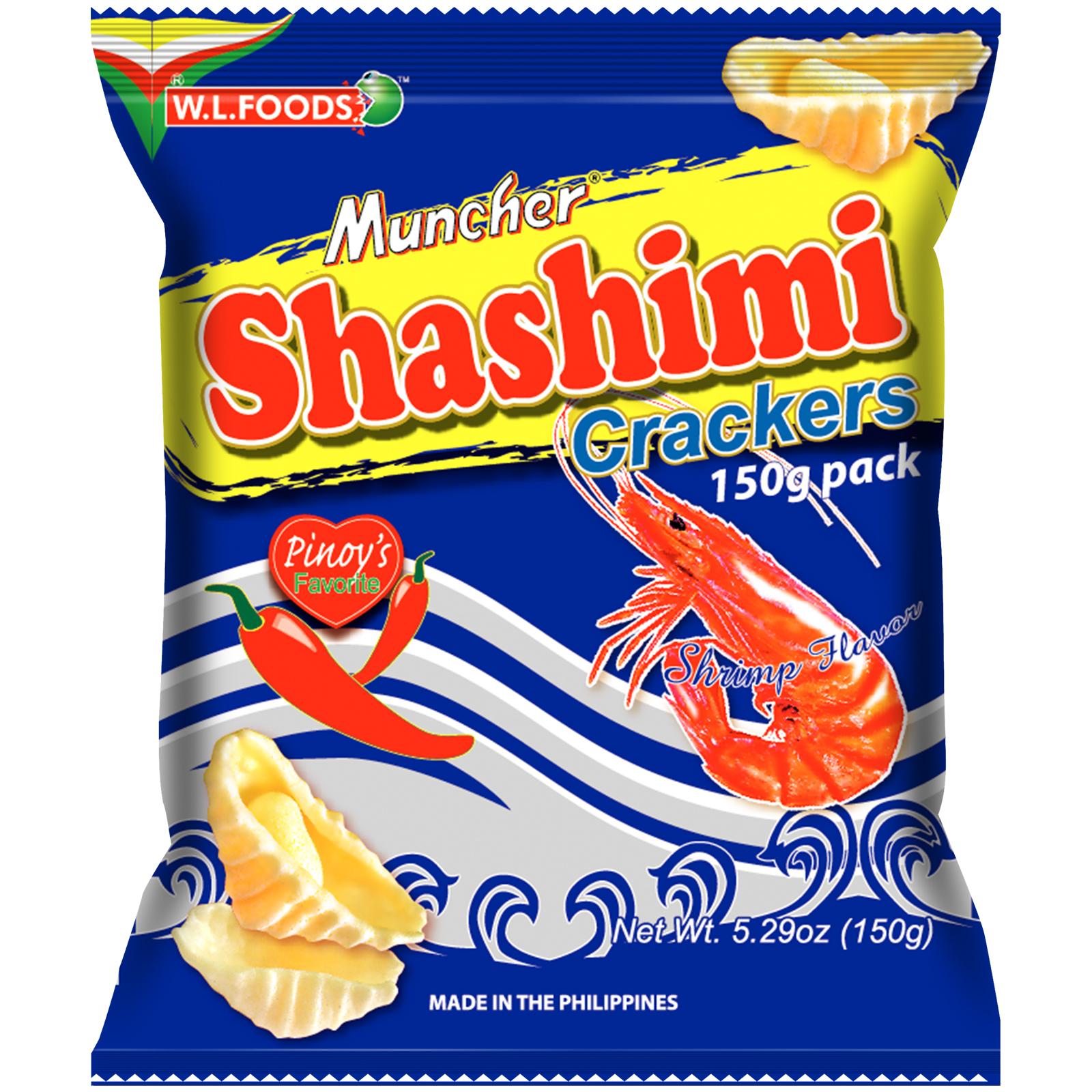 Shashimi Crackers Shrimp Flavor 150g